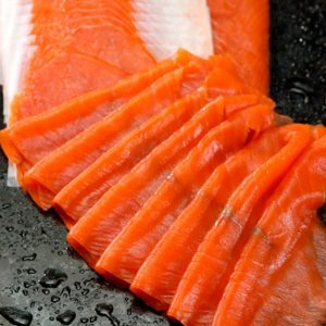Boneless & Skinless Smoked Sockeye Salmon Lox (5 x 170 gram portions)